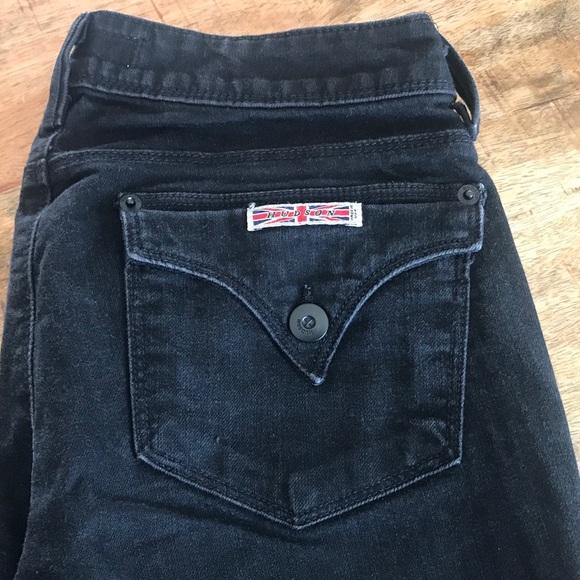 Hudson Jeans Denim - Hudson black jeans w402dob straight size 27